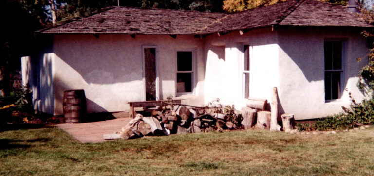 """""""Soddy"""" the sod house at the Wheat Ridge Historical Park"""