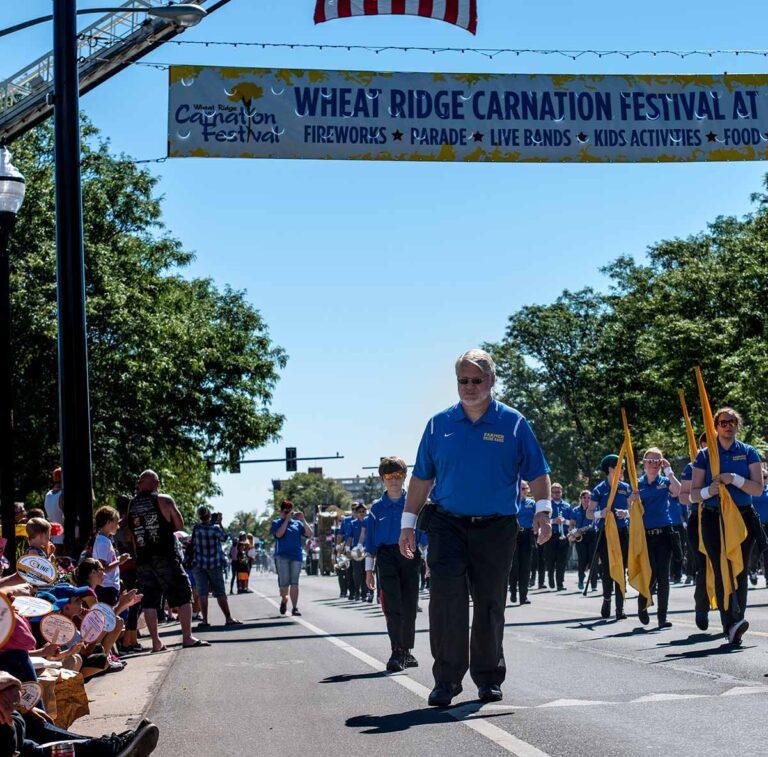 The Wheat Ridge Carnation Festival parade