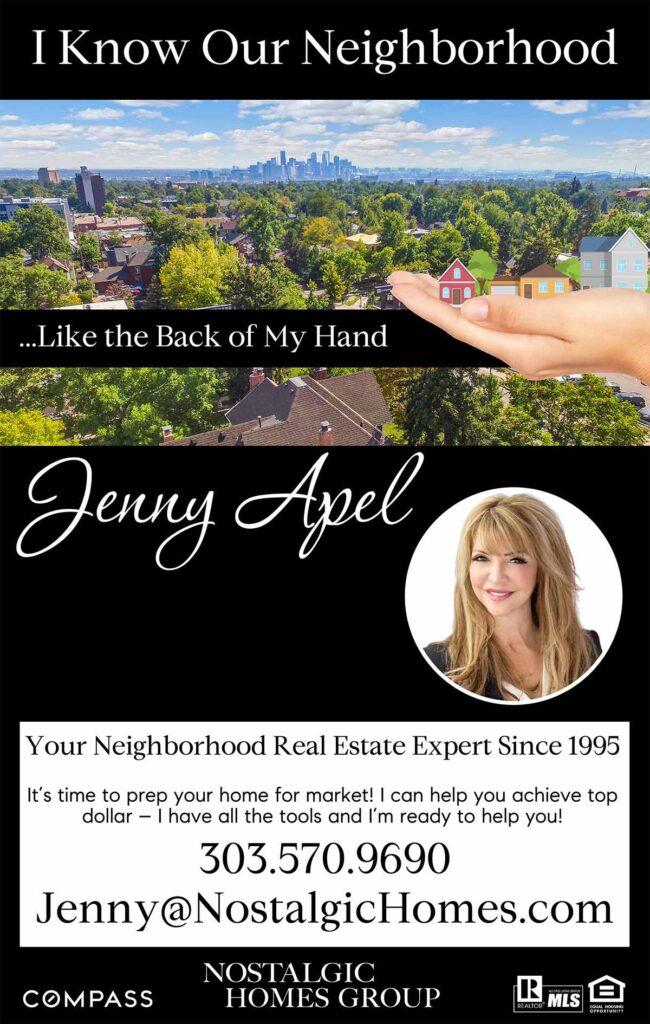 Jenny Apel of Nostalgic Homes Group advertisement
