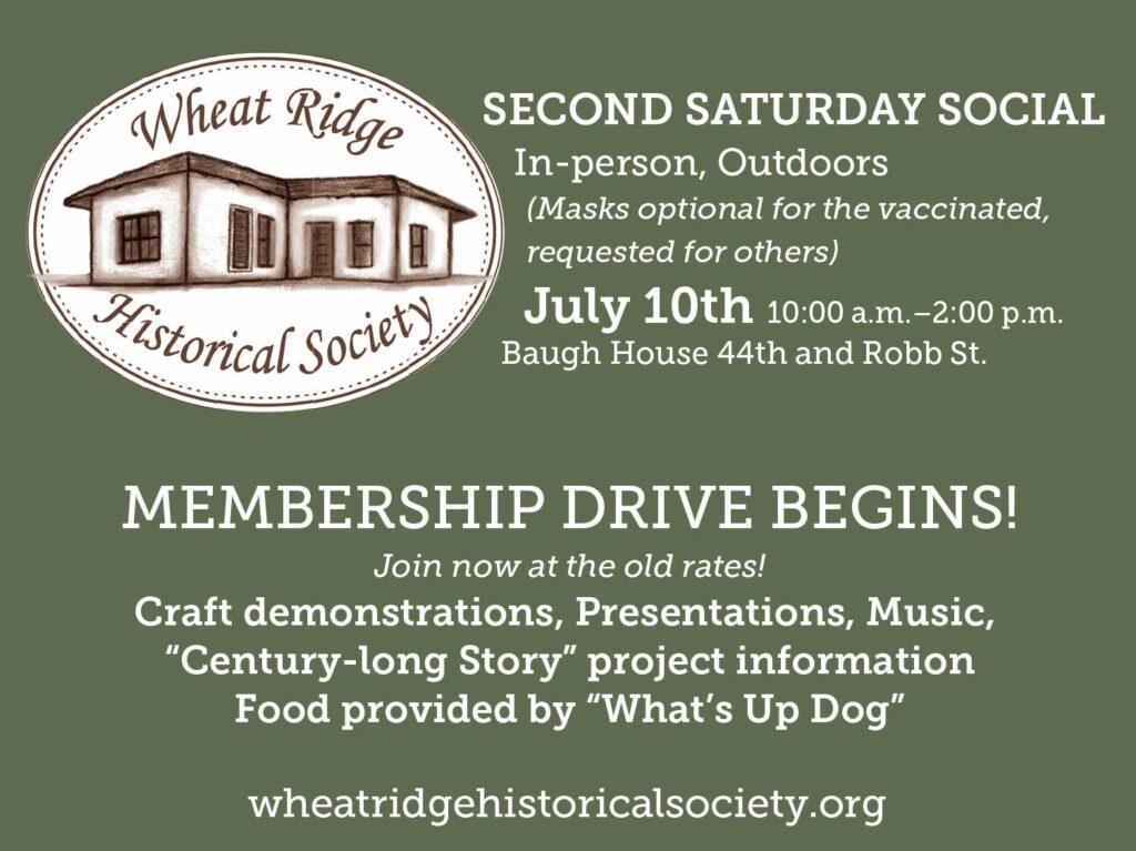 Wheat Ridge Historical Society advertisement